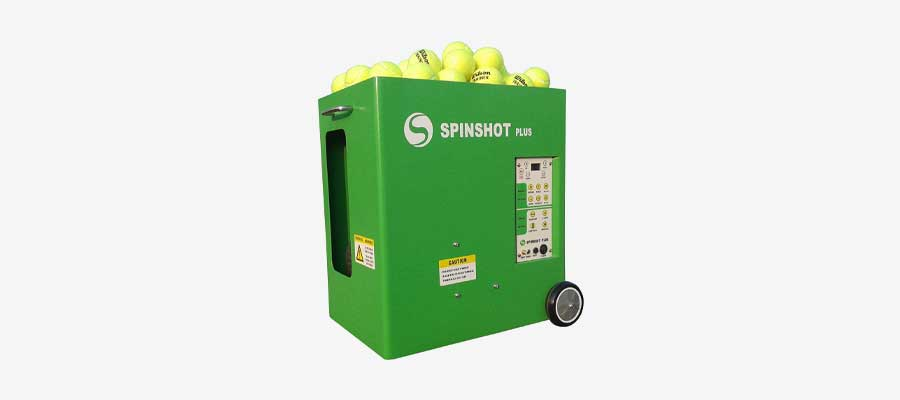 best tennis ball machine - spin shot plus